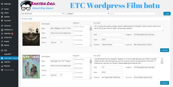 Wordpress ETC Film Botu