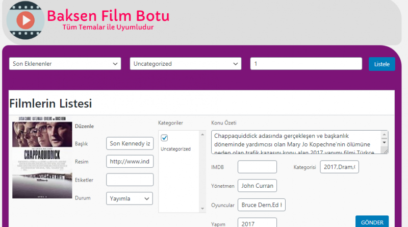 Wordpress Film Botu